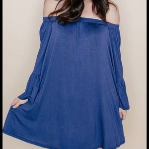 AJ Blue Off Shoulder Tunic / Dress